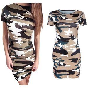 Women Printed Elegant O-Neck Mini Dress